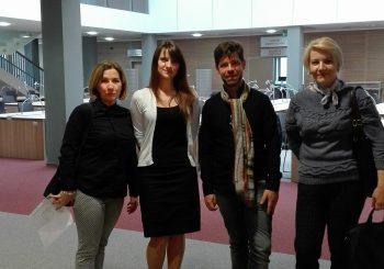 Profesor literatury polskiej z Kijowa na szkoleniu w ramach programu Erasmus+